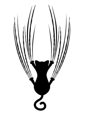 Stylized cat silhouette with claw scratches marks. Vektorové ilustrace