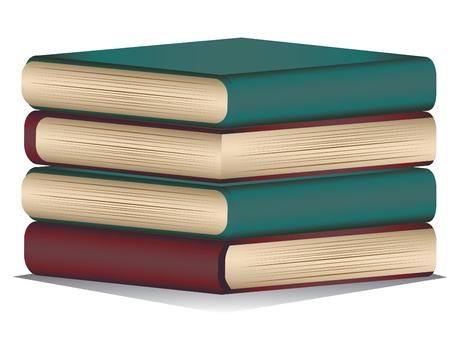 pile books: Cartoon stack of colorful books, pile of books.