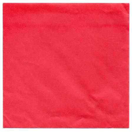 Blank Square Greeting Card Envelope Of Red Color Stock Photo