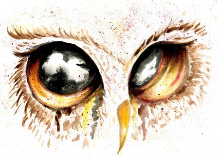 owl eye: Fantasy owl eye painting with acrylic and watercolor.