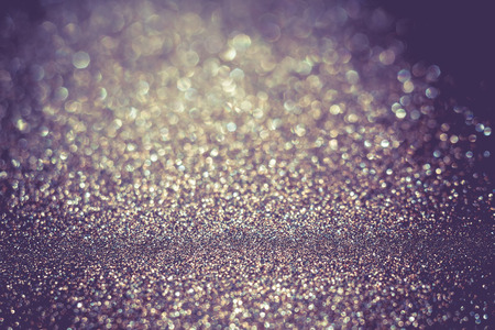 lux: Decorative glitter texture macro, defocused background, bokeh. Stock Photo