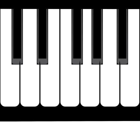 isolates: Illustration of abstract black and white piano keys background.