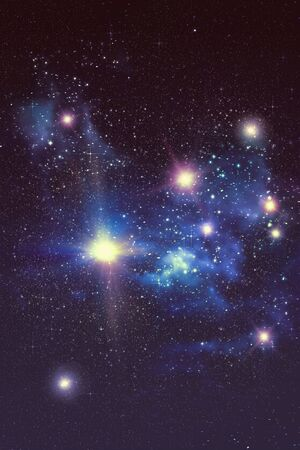 nebulous: Colorful starry outer space background, star field illustration. Stock Photo