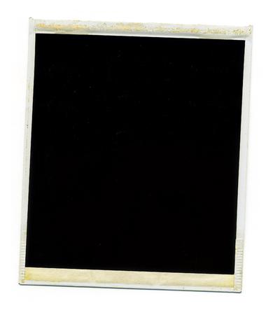 古い空白ポラロイド写真フレーム白い背景の上 ロイヤリティーフリー
