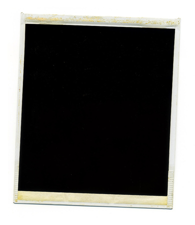 Old Blank Polaroid Photo Frame On White Background