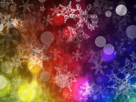 heavy snow: Heavy snow storm background with decorative snowflakes. Stock Photo
