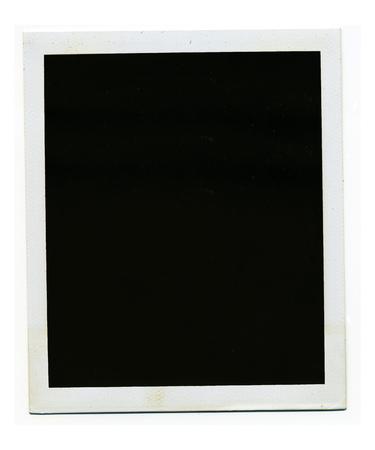 Old blank polaroid photo frame on white background.