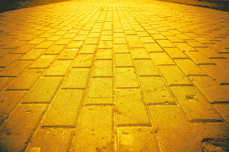 Old grunge park road pavement texture, natural vintage background. Stock Photo