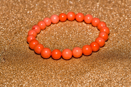Organic coral beaded bracelet, vintage natural stone jewelry.