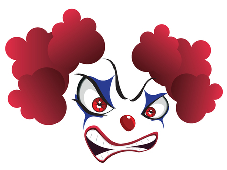 Cartoon creepy evil clown face for Halloween Stock Vector - 88499633
