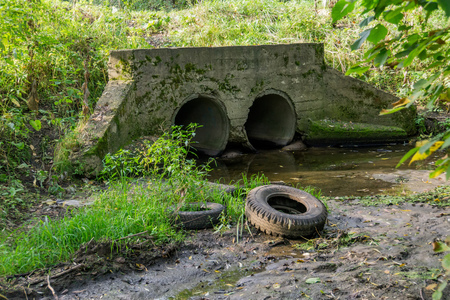 Image result for old concrete culvert drain