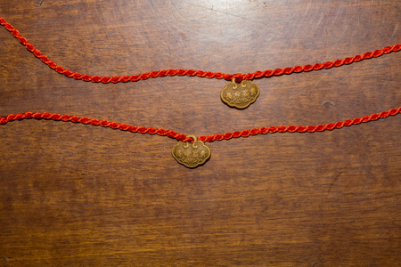 China one string bracelet with lucky wooden bead.