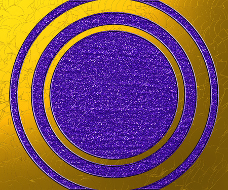 Decorative purple and gold texture with glitters as abstract background.
