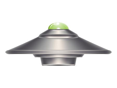 Conception abstraite de navire ufo, illustration de soucoupe volante. Vecteurs