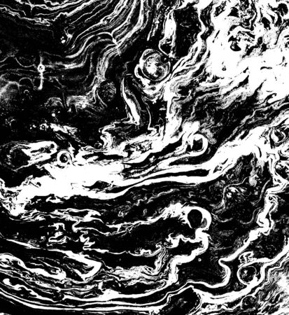 Abstract marble texture in black and white as grunge background. Stock Photo