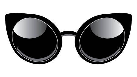 Retro style cat eyes shaped sunglasses design. Archivio Fotografico - 134440318