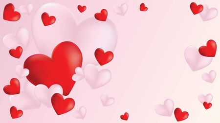 Lovely Valentines day banner with hearts design. Standard-Bild - 139645798