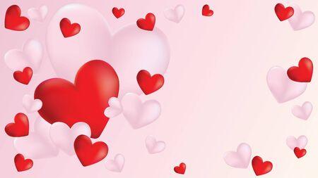 Mooie Valentijnsdag banner met harten ontwerp.