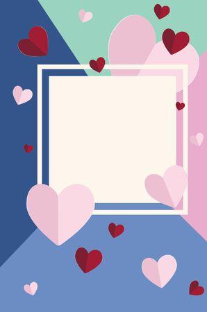 Lovely Valentines day banner with hearts design. Standard-Bild - 139644678