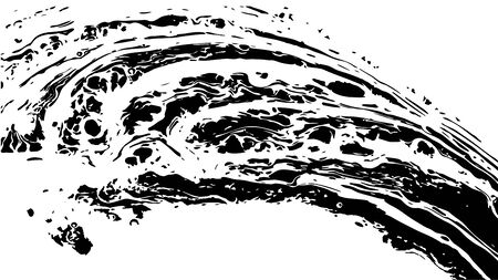 Abstract vintage marble texture in black and white as grunge background. Vector Illustration