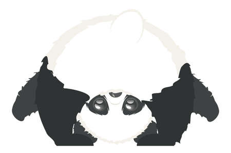 Cute cartoon panda bear, kawaii animal design. Reklamní fotografie - 151149262