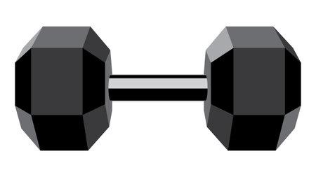 Abstract fitness club logo, dumbbells design illustration.