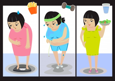 I am overweight now, I have to lose some Stock Vector - 18370625
