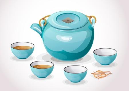 sip: Set de t� chino de cer�mica