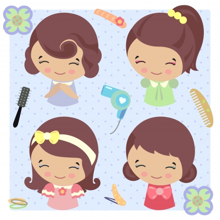 hairpin: Hair accessories and hair styles hair dryer, hairpin etc.