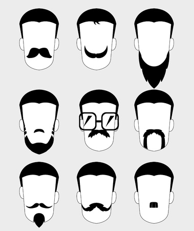 goatee: Mustache and beard type  Illustration