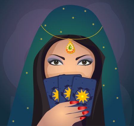 gypsy woman: Gypsy predicting the future