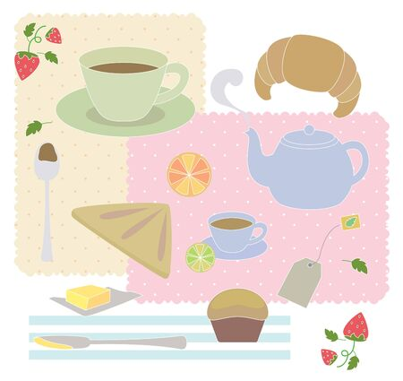 placemats: Set of coffee break