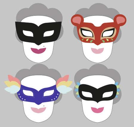Fancy mask, wear masks  Stock Vector - 21216340