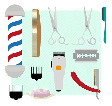 clippers: Barber for men and barber equipment.