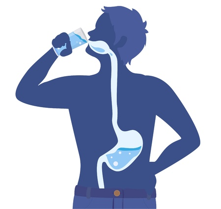Drinking pure water for healthy. Illustration