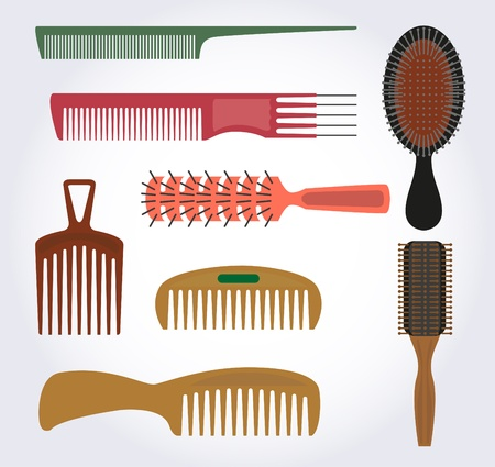 comb: Combs, brushes for hair brush, there are many different shapes and different for hair.