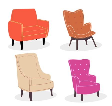 leather chair: Comoda sedia. Sedia design colorato avvolto in pelle e tessuto.