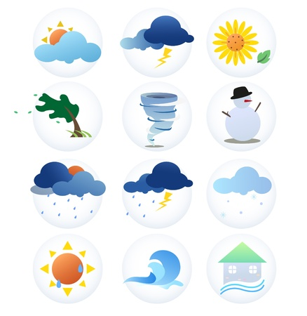 Symbols shows the weather and the season. Stock Vector - 21798837