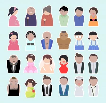 さまざまな年齢層の人々。労働年齢と高齢者や子供たちの人々。