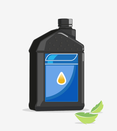 contain: A plastic bottle or small gallon to contain oil  Illustration