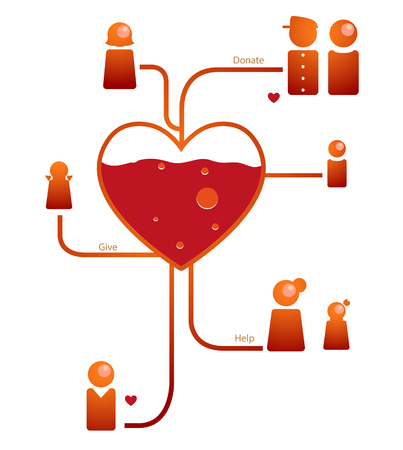 Blood donations for help people  Vector