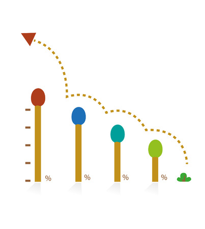 The graph shows the proportion and growth  Illustration