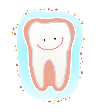 Strong teeth and prevent tooth  Teeth clean  Illustration