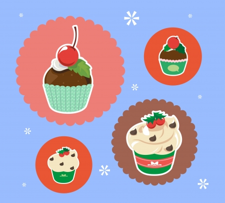 christmas day: Cupcake for special days like Christmas day  Illustration