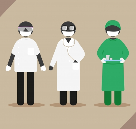 doctor gloves: Clothing for the doctor, dentist, and surgeon.