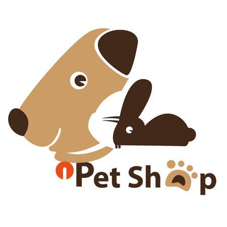 tienda de animales: Imagen de los perros, gatos, conejos, atribuirse a una tienda de animales