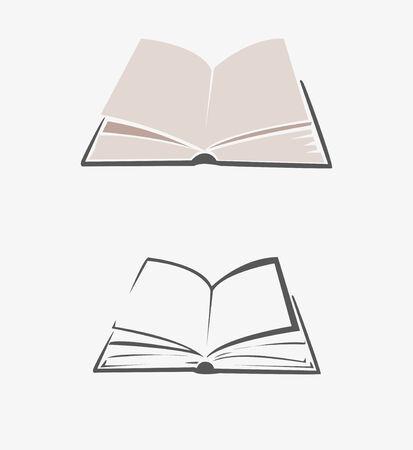 開かれた本の画像ベクトル