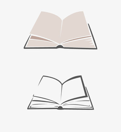reading book: Image vector of  book that was opened