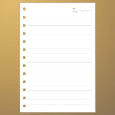 scratch pad: Notebook paper for text notes on a brown  Illustration