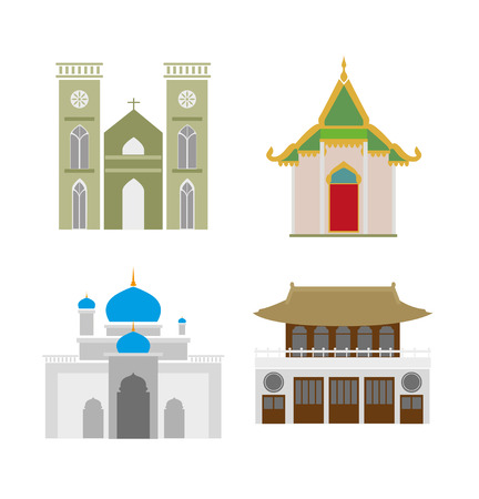 sanctuary: Churches in various type such as Thailand, China etc.